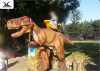 Kids Playing Moving Large Ride On Dinosaur Toys For Dinosaur Theme Park