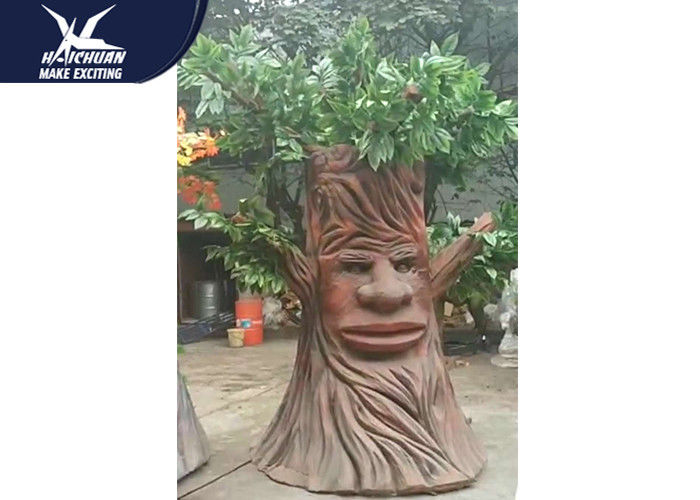Artificial Cartoon Waterproof Talking Tree Life Size Facility Theme Park