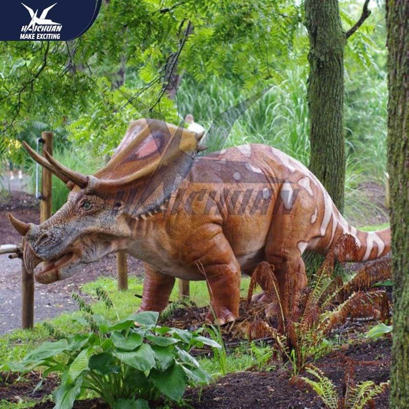 Outside Mechanical Realistic Life Size Dinosaur Models For Exhibit